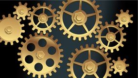 Vector machine gears Stock Photo