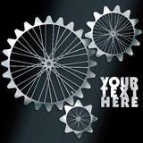 Vector machine gears with spokes background Royalty Free Stock Photos