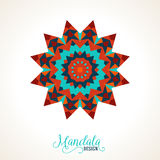 Vector madala, round ornament Royalty Free Stock Image