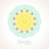 Vector madala, round ornament Royalty Free Stock Image