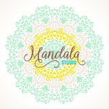 Vector madala, round ornament. Vector illustration of big detailed mandala. Floral abstract background. Concept round ornament for yoga studio, meditation Royalty Free Stock Photo