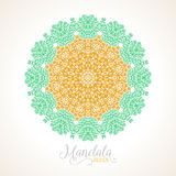 Vector madala, round ornament Stock Photography