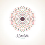 Vector madala, round ornament Royalty Free Stock Images