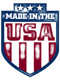 Vector Made In The USA Shield. Distressed Made in the USA shield. Vector image is completely scalable Stock Images