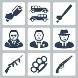 Vector mafia icons set Stock Image