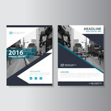 Vector Magazine annual report Leaflet Brochure Flyer template design, book cover layout design Royalty Free Stock Photos