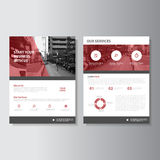 Vector Magazine annual report Leaflet Brochure Flyer template design, book cover layout design. Vector Magazine Leaflet Brochure Flyer template design, annual royalty free illustration