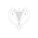 Vector magic alchemy symbol. geometric logo for spirituality, occultism, tattoo art and print. ideal for imagination Royalty Free Stock Photos