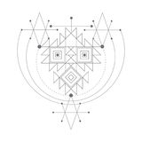 Vector magic alchemy symbol. geometric logo for spirituality, occultism, tattoo art and print. ideal for imagination Stock Photos
