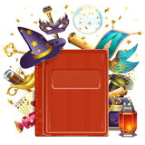Vector Magic Book. On white background royalty free illustration