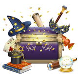 Vector Magic Chest Royalty Free Stock Photo