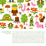 Vector magic forest background Stock Photography