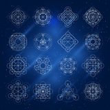 Vector Magic Geometry Signs Royalty Free Stock Photography