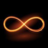 Vector magic glowing light swirl trail. Glitter fire spark wave. Stock Photos