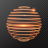 Vector magic gold light trail circle spring globe sphere Stock Photo