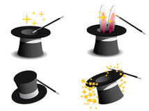 Vector magic hat. With stars and bunny ears Stock Photography