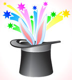 Vector Magic Hat. Stock Photo