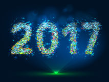 Vector magic New Year 2017 background. Vector magic background New Year 2017 Royalty Free Stock Image