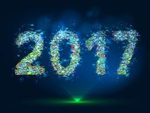Vector magic New Year 2017 background. Vector magic background New Year 2017 vector illustration