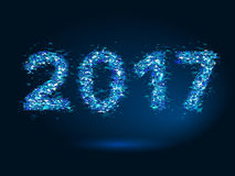 Vector magic New Year 2017 background Stock Images