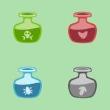 Vector magic potions Royalty Free Stock Image