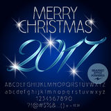 Vector magical Merry Christmas 2017 greeting card Royalty Free Stock Photo
