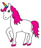 Vector Magical Unicorn With Rainbow Horn Royalty Free Stock Photo
