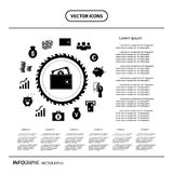 Magnification icon for searching web Royalty Free Stock Photo