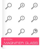 Vector magnifier glass icons set Stock Images