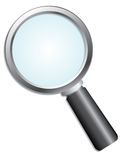 Vector magnifier Stock Photos
