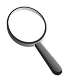 Vector magnify. An illustration of magnifying glass on isolated white background Stock Image