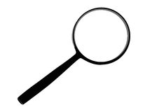 Vector magnifying glass. Isolated on white stock illustration