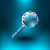 Vector Magnifying Glass Icon Stock Photography