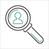 Vector magnifying glass. Royalty Free Stock Photos