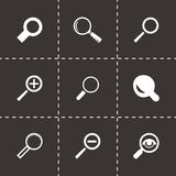 Vector magnifying glass icons set Royalty Free Stock Photography