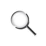 Vector magnifying glass Stock Images