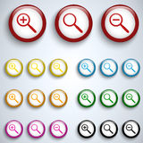 Vector - Magnifying Lens Button Set Icon Stock Image