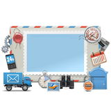 Vector Mail Board. On white background Stock Photos