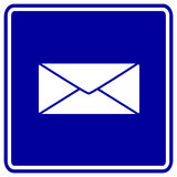 Vector mail envelope sign. Vector sign with a mail envelope symbol stock illustration