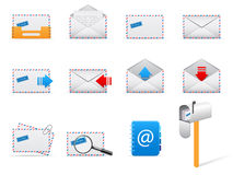 vector mail icons Royalty Free Stock Photography