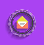 Vector mail stamp flat modern design Royalty Free Stock Photography