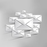 Vector mail web icon Royalty Free Stock Photos
