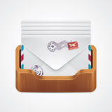 Vector mailbox icon Royalty Free Stock Photography