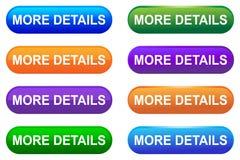 Vector mais botão da Web dos detalhes ilustração stock
