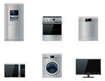 Vector major appliances set Stock Image