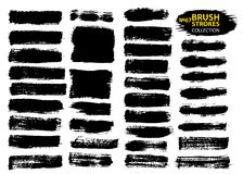 Dirty artistic design elements isolated on white background. Black ink vector brush strokes vector illustration