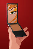 Vector make-up illustration Royalty Free Stock Image