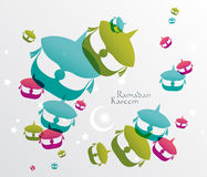 Vector Malay Wau (Moon Kite) Graphics. Royalty Free Stock Photography