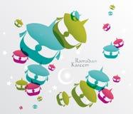 Vector Malay Wau (Moon Kite) Graphics. royalty free illustration