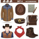 Vector Male Accessories Set 6 Royalty Free Stock Image